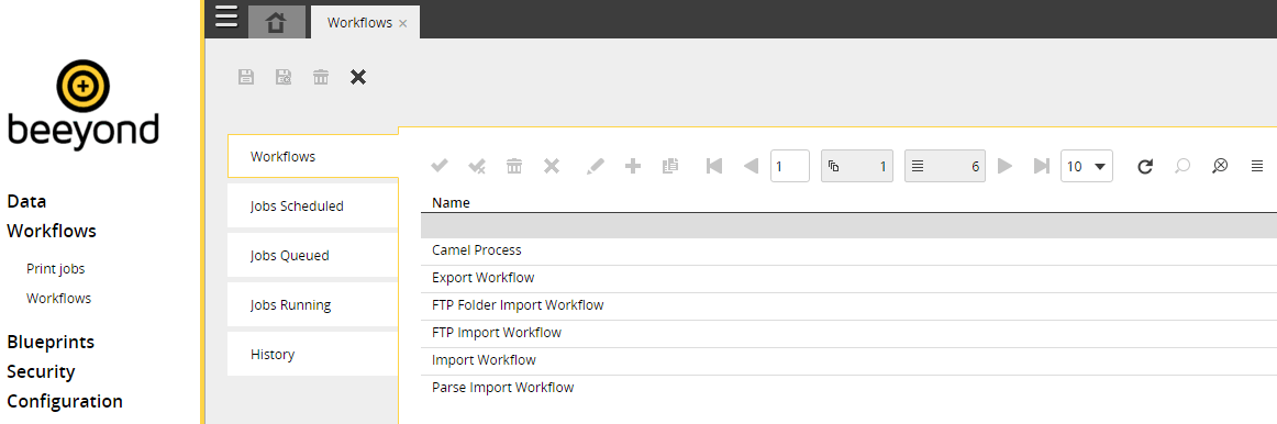 workflow options